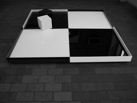 'Poetic Machine', 2011, Software, electronics, mdf, perspex, 200 x 200 cm