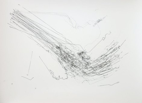 '63 Attempts to Draw a Corner', robot on paper, 60 x 50 cm, 2011