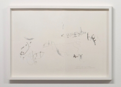 'Es ist ein Krebshoden', robot on paper, 100 x 70 cm, 2012