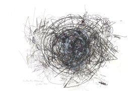 Gidouille, robot drawing, 60 x 40 cm, 2013