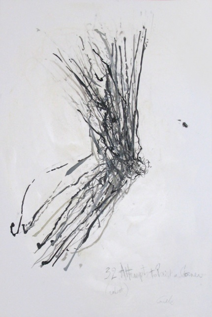 32 Attempts to Paint a Corner, 120 x 80 cm, robot, oil on canvas, 2013