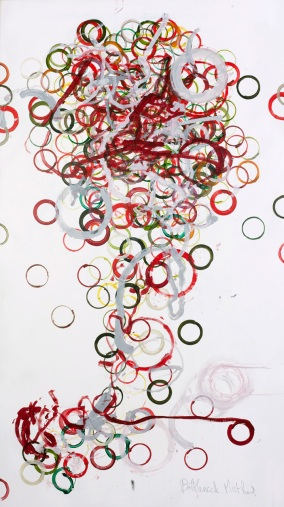 Bottleneck method, 180 x 100 cm, robot, acrylic on canvas, 2014