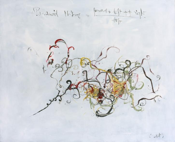 Paranoid motor, 120 x 80 cm, robot, oil on canvas, 2014