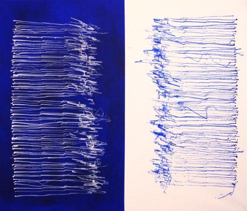 Paste&Copy, 160 x 100 cm, robot, acrylic on canvas, 2015