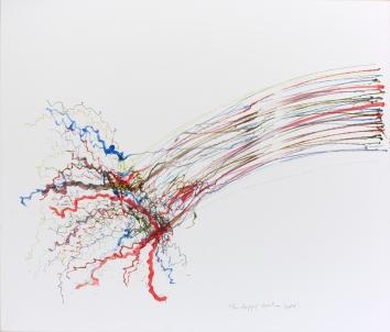 The slapping algorithm, 160 x 100 cm, robot, acrylic on canvas, 2014