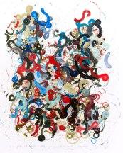 Stubborn 2, 80 x 100 cm, robot, acrylic on canvas, 2014