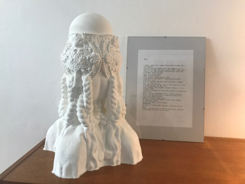 n00b, 3d print and frame, 60 x 30 x 25 cm, 2019